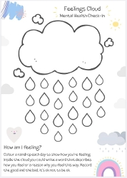 P1 Home Learning WB 1_6_2020 Feeling Cloud